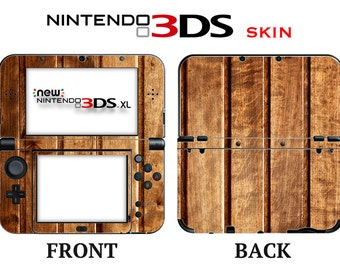 Wood Skin Nintendo 3DS or 3DS XL 2015 Full Cover Front & Back