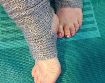Crochet - Crocheted Yoga Socks - Dance Warmers - Pilates Socks -  Athletic Socks - Exercise Socks - Leg Warmers - Gift For Mom - Mothers Day