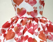 Watercolor Hearts, Valentine's Day Sleeveless Dress for Your American Girl Doll