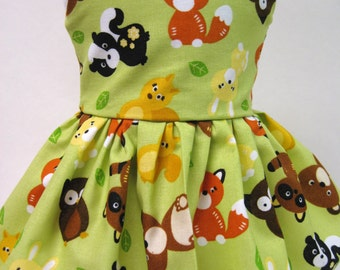 Baby Animals Sleeveless Dress for your American Girl Doll A