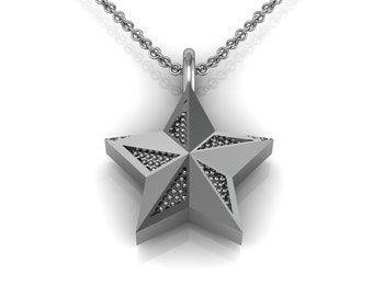 Star Charm Necklace in 14k White Yellow Rose Gold | made to order for you within 5-7 business days