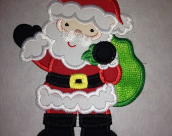 Santa iron on patch
