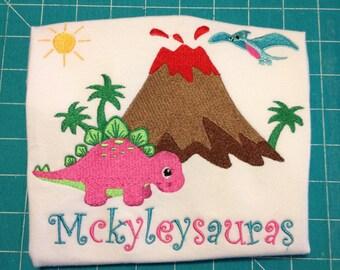 Girly dinosaur Shirt