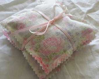 Lavender Sachets Shabby Fabric Pack Of Three