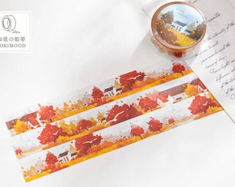 Japanese Washi Masking Tape - Forest in Autumn - 20mm Wide - 11 Yards
