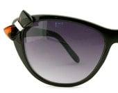 Vintage Women Sunglasses Black with Grey Lenses Eyeglass Frames Eyewear