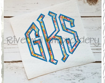 Point Monogram Applique Machine Embroidery Font Alphabet - 4 Sizes