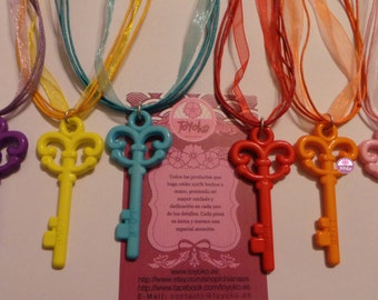 """On Sale!! Necklace """"Key"""" (several colors)"""