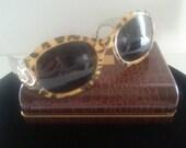 NOW ON SALE Christian Dior Designer Leopard Retro Tortoise Brown Lucite Sunglasses ** Vintage Glamour Girl Rockabilly Accessories
