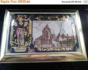 Now On Sale Vintage Tin Large Box Home Decor Collectible Made in Germany Gold Color Castle Knight Designs Vintage Home Decor Storage