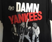Vintage Damn Yankees Ted Nugent Rock Concert Tour Shirt