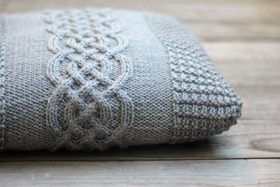 Knitting Pattern Central Pillows : Knitting pattern, knitting tutorial, aran pillow case ...
