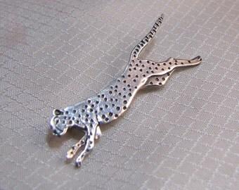 Great Falls Metal Works Sterling Leopard/Cheetah Brooch