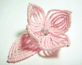 Light Pink Flower Floral Bloom French Beaded Fascinator - Pearl Collection