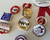 Vintage 1980s Gymnastics Pin Collection Gymnast