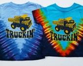 SALE - Truckin' youth kids tye-dye tee shirt - Grateful Dead, Jerry Garcia, hippie, deadheads