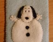 Peanuts Ornament Felt Christmas Snoopy Snowman