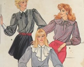 Butterick 4550 Misses' Blouse and Separate Collars Pattern, UNCUT, Size 12-14-16, Work Wear, Casual, Vintage