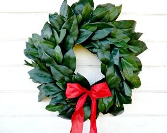 MAGNOLIA Wreath-Valentine Wreath-Valentines Day Wreath-Outdoor Wreath-All Season Door Wreath-Housewarming Wreath-Holiday Home Decor-Gifts