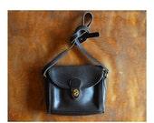 SALE / vintage black leather coach purse / coach Devon bag