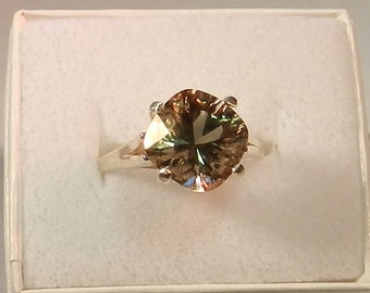 Oregon Sunstone and sterling silver ring    #34