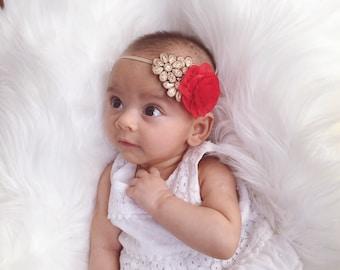 Baby Headband. You Pick 1 Infant headband. Girl Headband.  Newborn Hair Bows. Baby hair accessories Baby Hairbows, Baby Girl Bows