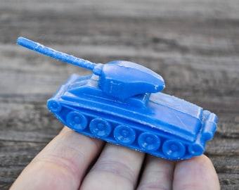 Vintage Soviet Russian plastic toy armored vehicle,tank.
