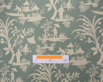Two 20 x 20  Designer Decorative Pillow Covers for Indoor/Outdoor - Robert Allen Toile Chinoiserie - Spa