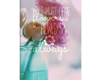 iCanvas Always Flowers Gallery Wrapped Canvas Art Print by 5by5collective