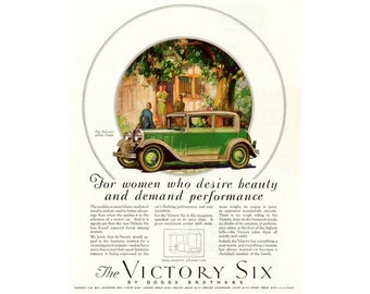 Instant Download Printable Art, Dodge Victory Six, Classic Car, Wall Art Decor, Digital Download
