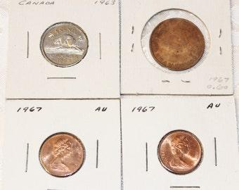 Vintage Canadian Coins