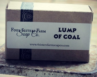 Lump of Coal, Lump of Coal Gift, Stocking Stuffer, Gift for Friend, Gift idea, Coal Soap, Charcoal Soap, Gift for him, Gift for her