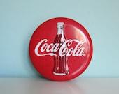 Coca Cola Tin, Coke Tin, Vintage Coke Tin, Coke Button Tin, Advertising Tin, Coke Collector, Coca Cola Collectible, Coke Memorabilia