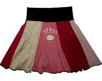 Texas Cutie Pie Girls Size 4T 5 Upcycled Skirt Hippie Skirt recycled t-shirt clothing Twirly Skirts Twinkle Skirts Twinklewear
