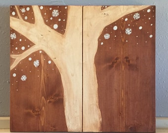 Tree and Snow Wall Hanging