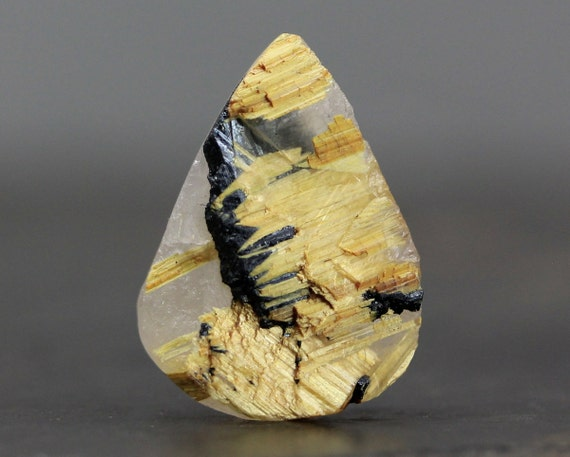 Raw Gold Rutilated Quartz Healing Gemstone Rough Rock