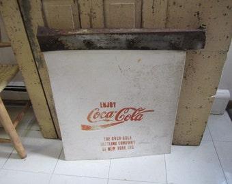 Vintage Original Coca Cola Mud Flap. Truck Mud Flap. Coca Cola Wall Art. Large Coca Cola Memorabilia.  Industrial Home Decor
