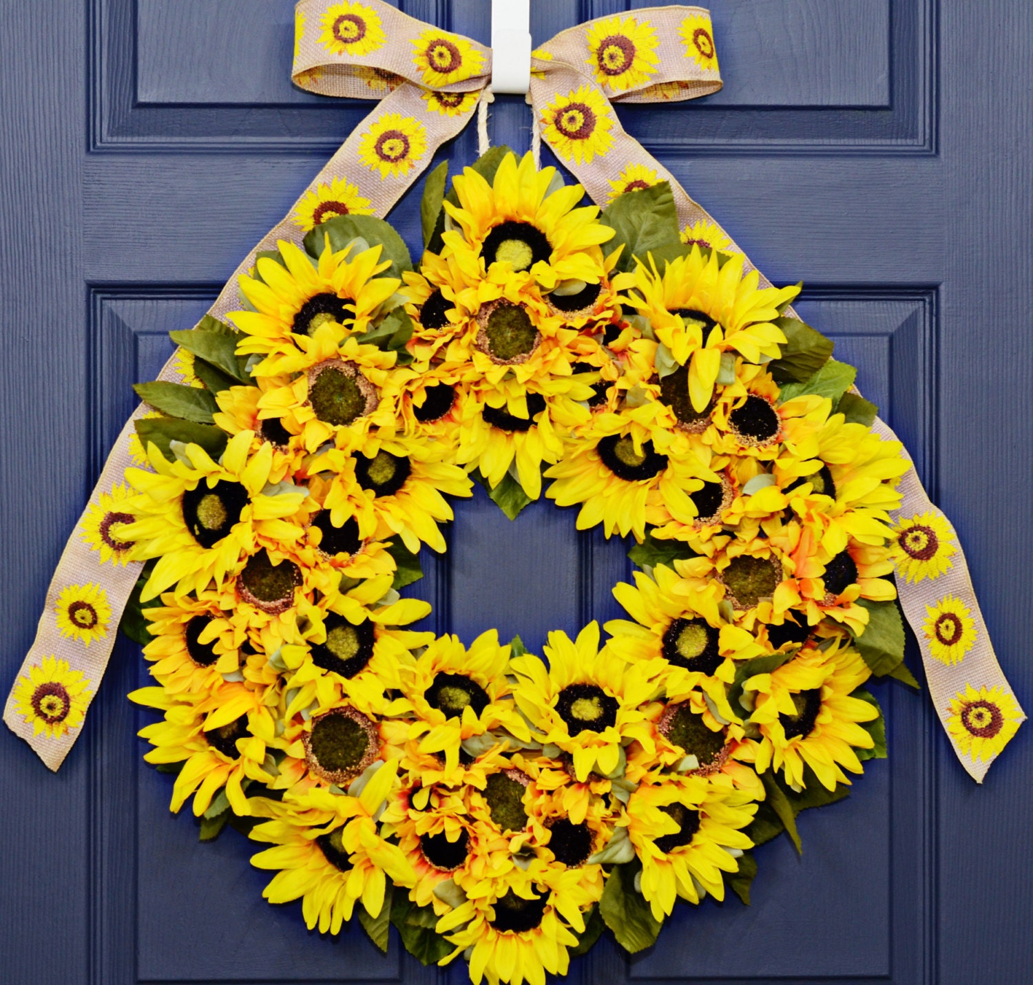 Sunflower Home Decor: Sunflower Wreath Home Decor Year Round By JuliesHomeCreations