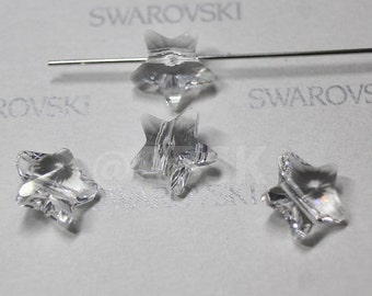 6 pieces Swarovski elements crystal STAR Beads 5714 CLEAR - Available in 8mm and 12mm