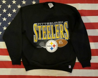 Vintage 1992 NFLP 7 Logo Pittsburgh Steelers Sweatshirt, Size L