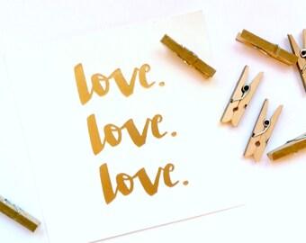 Mini Pegs - Set of 8 - Metallic Gold Clothespins