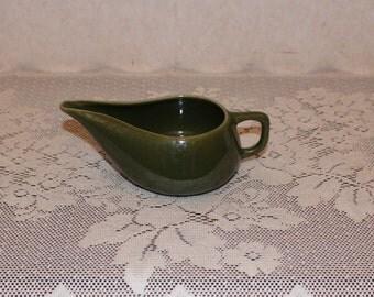 Vintage Bauer Brusche Modern Al Fresco Olive Green Creamer
