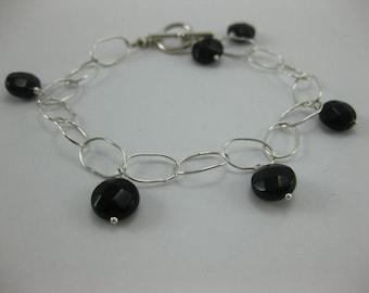 Black Onyx - Sterling Silver Bracelet - 3161