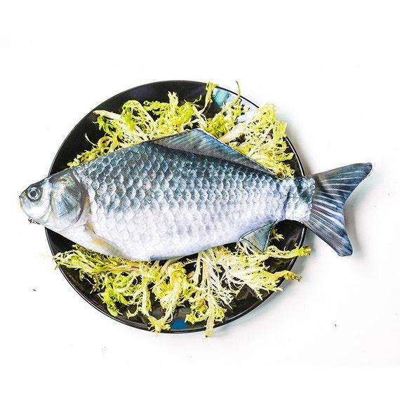 Crap fish pen pouch fish pouch pen pencil case by shekphoebe for Realistic fish pencil case