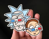 Rick and Morty Schwifty 3D Glasses - Sticker Decal - FREE US SHIPPING
