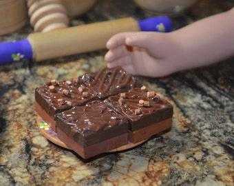 18 Inch Doll Food Chocolate Frosted Brownies Bakery Add On Pretend Play