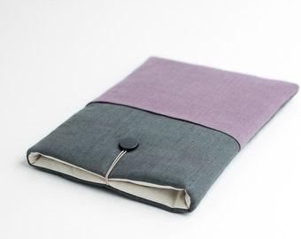 Macbook 12 inch sleeve, Macbook 12 inch case, grey, lavender, minimal with pocket