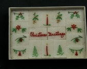 Vintage Decorative Sugar Cubes CHRISTMAS GREETINGS Mountain Sweets Berea College Kentucky