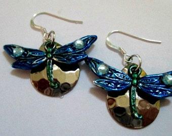 Dragonfly Silver Earrings