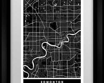 Edmonton - Canada - Minimalist Map - Poster